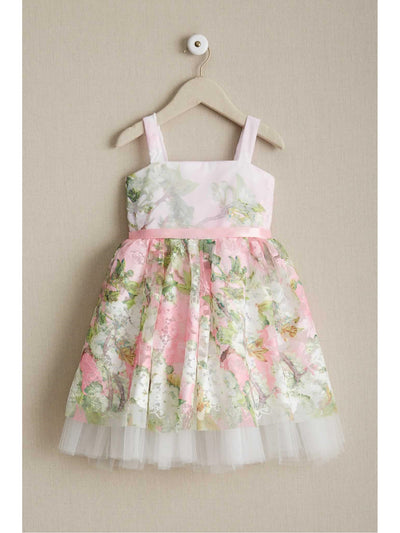 Girls Pretty in Pink Floral Dress