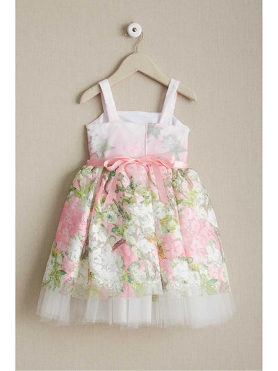 Girls Pretty in Pink Floral Dress  lpi alt2