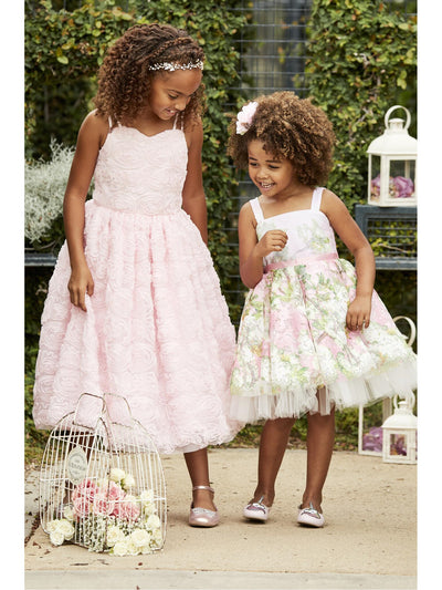 Girls Pretty in Pink Floral Dress  lpi alt3