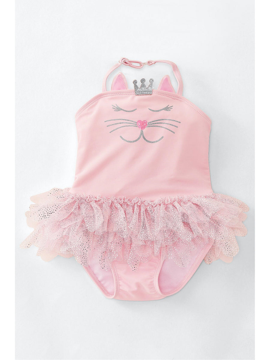 Girls Princess Party Tutu Kitty Swimsuit