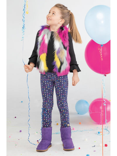 Girls Purple & Polka Dots Leggings  pur alt1