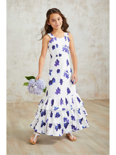 Girls Purple Flowers Sundress