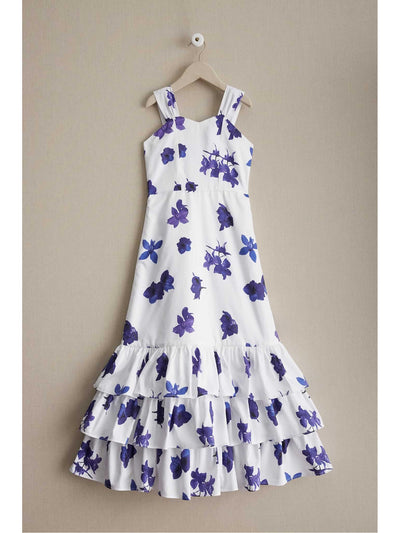Girls Purple Flowers Sundress  pur alt1