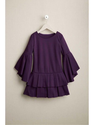 Girls Purple Ponte Dress