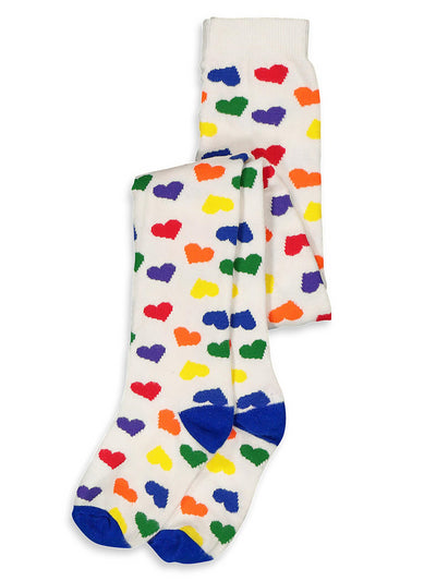 Girls Rainbow Hearts Tights  iv alt2