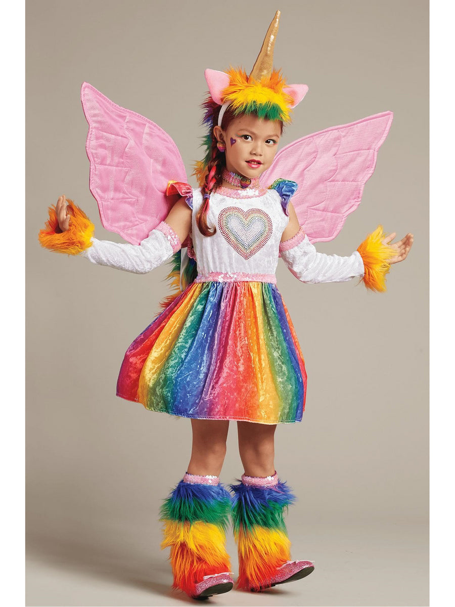 Girls Rainbow Pegasus Wings