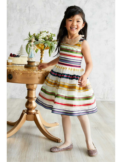 Girls Rainbow Ribbon Dress