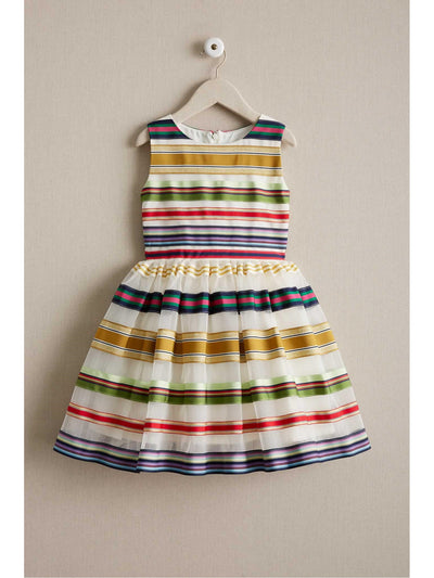 Girls Rainbow Ribbon Dress  ivo alt1