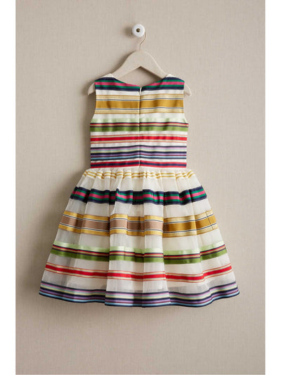 Girls Rainbow Ribbon Dress  ivo alt2