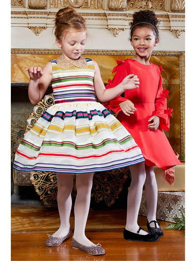 Girls Rainbow Ribbon Dress  ivo alt3