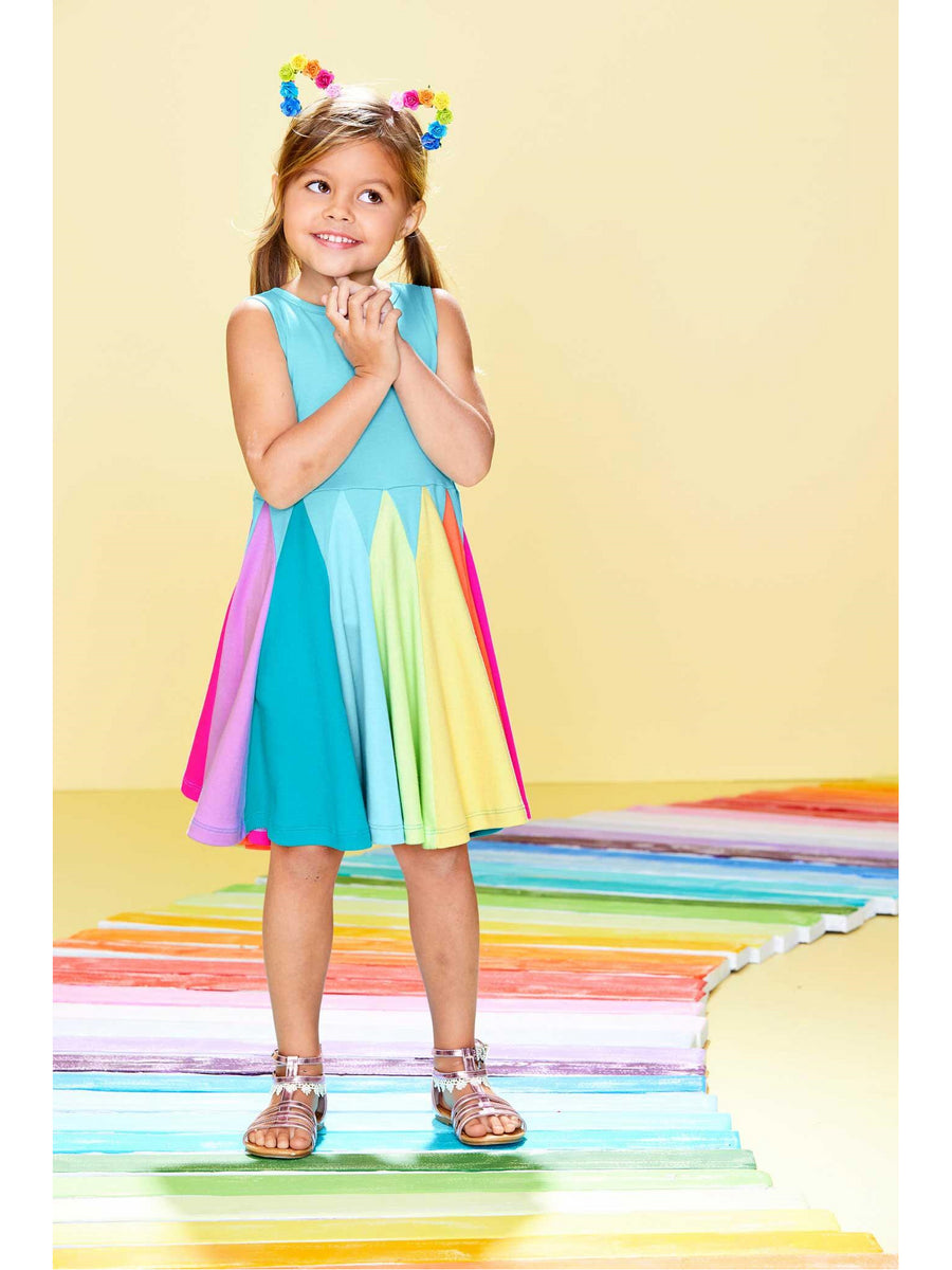 Girls Rainbow Twirl Dress