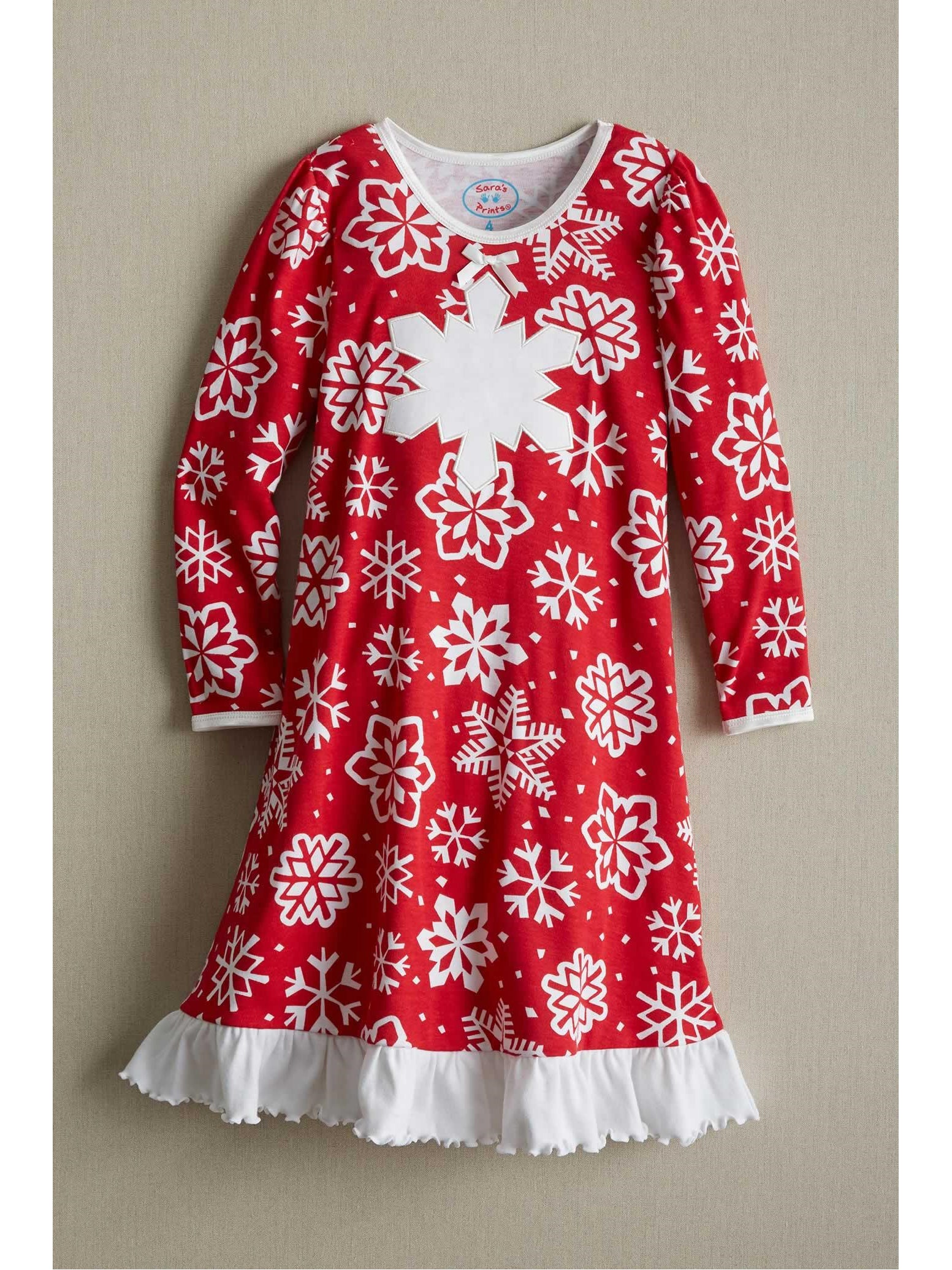 Let it snow snowflake embroidered dress