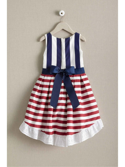 Girls Red White & Stripes Dress  rwb alt2