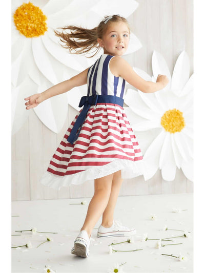 Girls Red White & Stripes Dress  rwb alt3