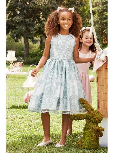 Girls Regal Embroidered Dress  ivo alt1