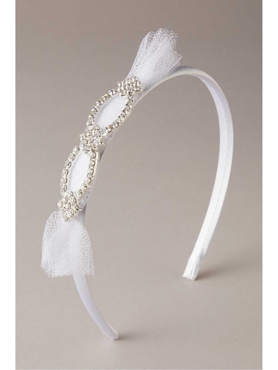 Girls Rhinestone Chiffon Headband