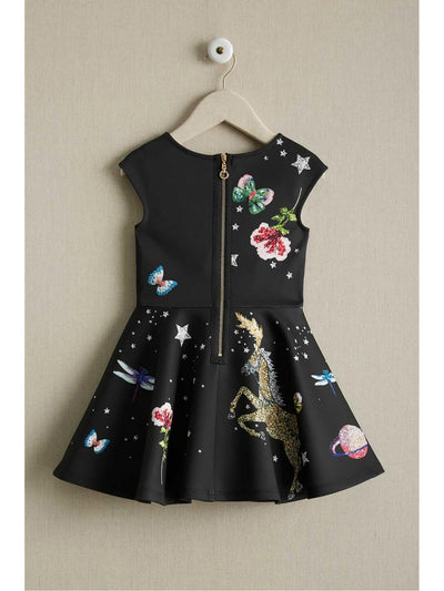 Girls Rhinestone Fantasy Dress  bla alt2