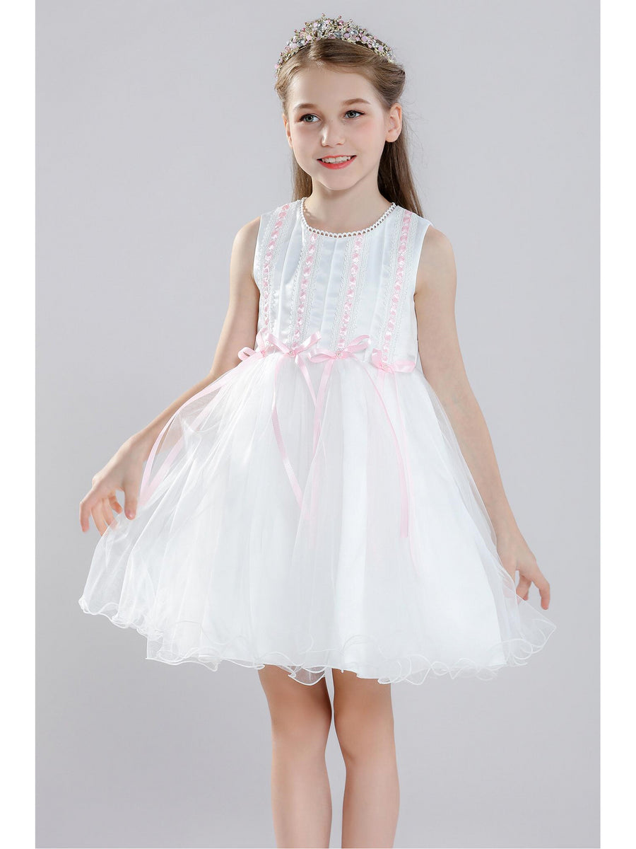 Girls Ribbon-Trim Dress