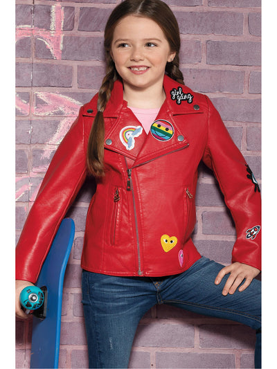 Girls Rock the Patches Jacket  red alt1