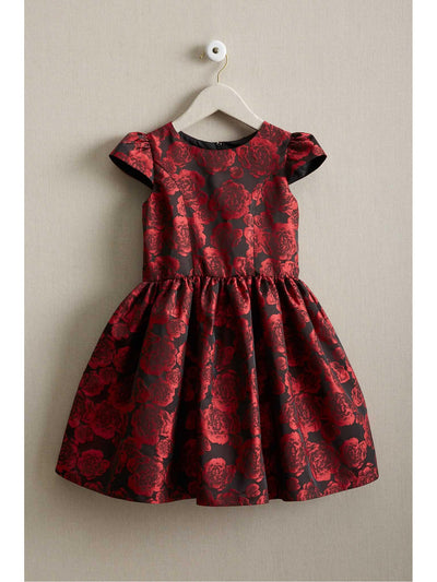 Girls Rose Brocade Dress
