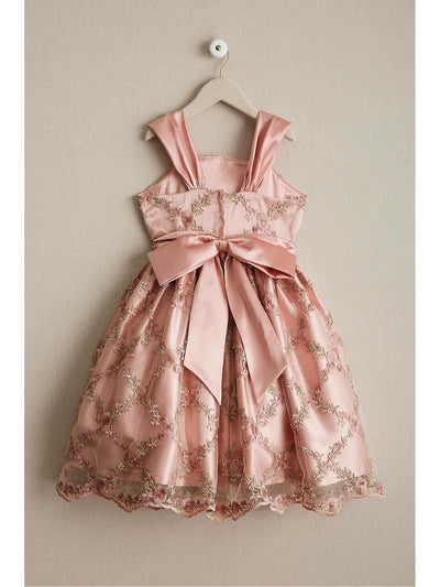 Girls Rose Lattice Dress  pin alt2
