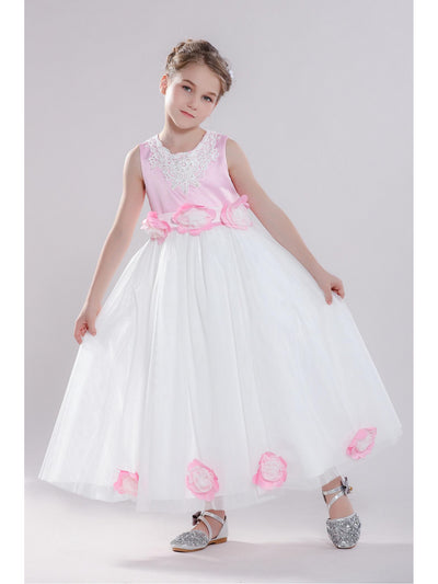 Girls Rosette Dress  whpk 1