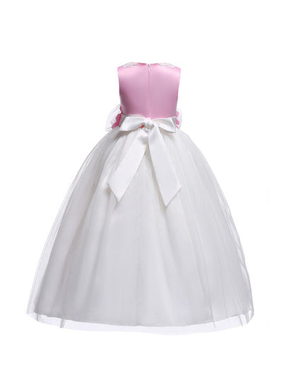 Girls Rosette Dress  whpk alt2