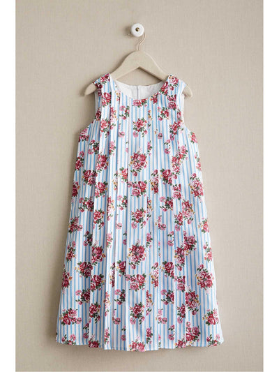 Girls Rosy Stripes Swing Dress