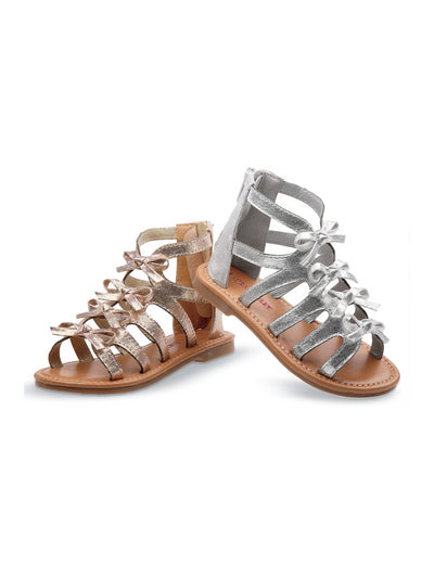 Girls Row of Bows Gladiator Sandals  sll 1