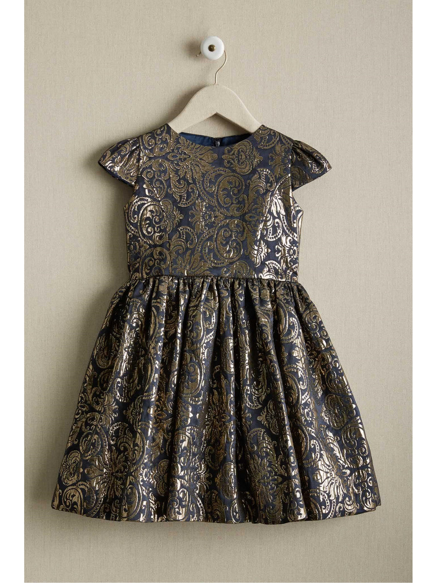 Girls Royal Brocade Dress