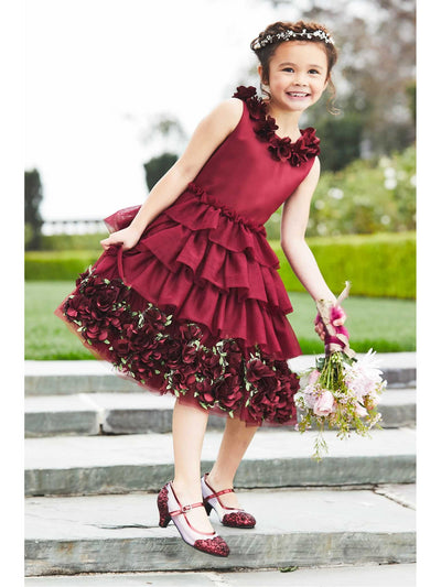 Girls Royal Ruffles Dress