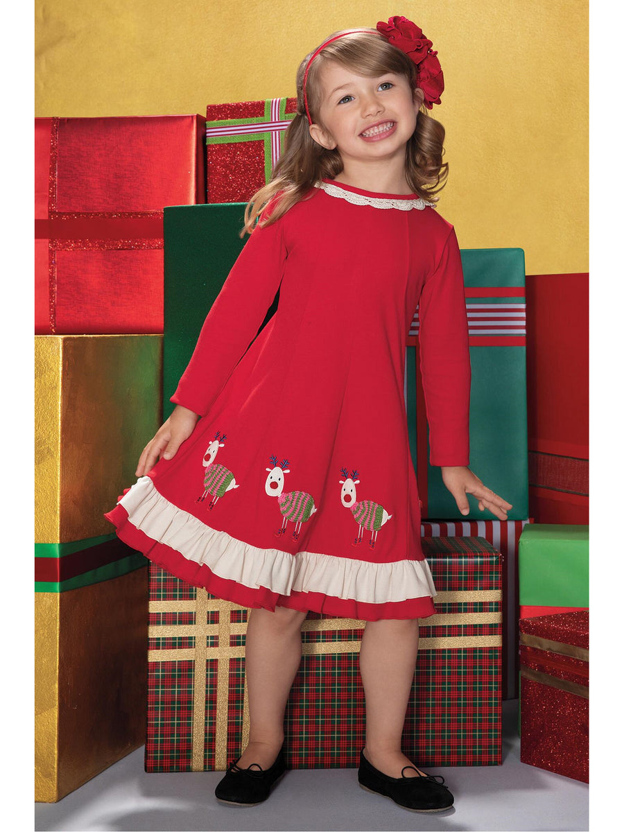 Girls Rudolph Dress