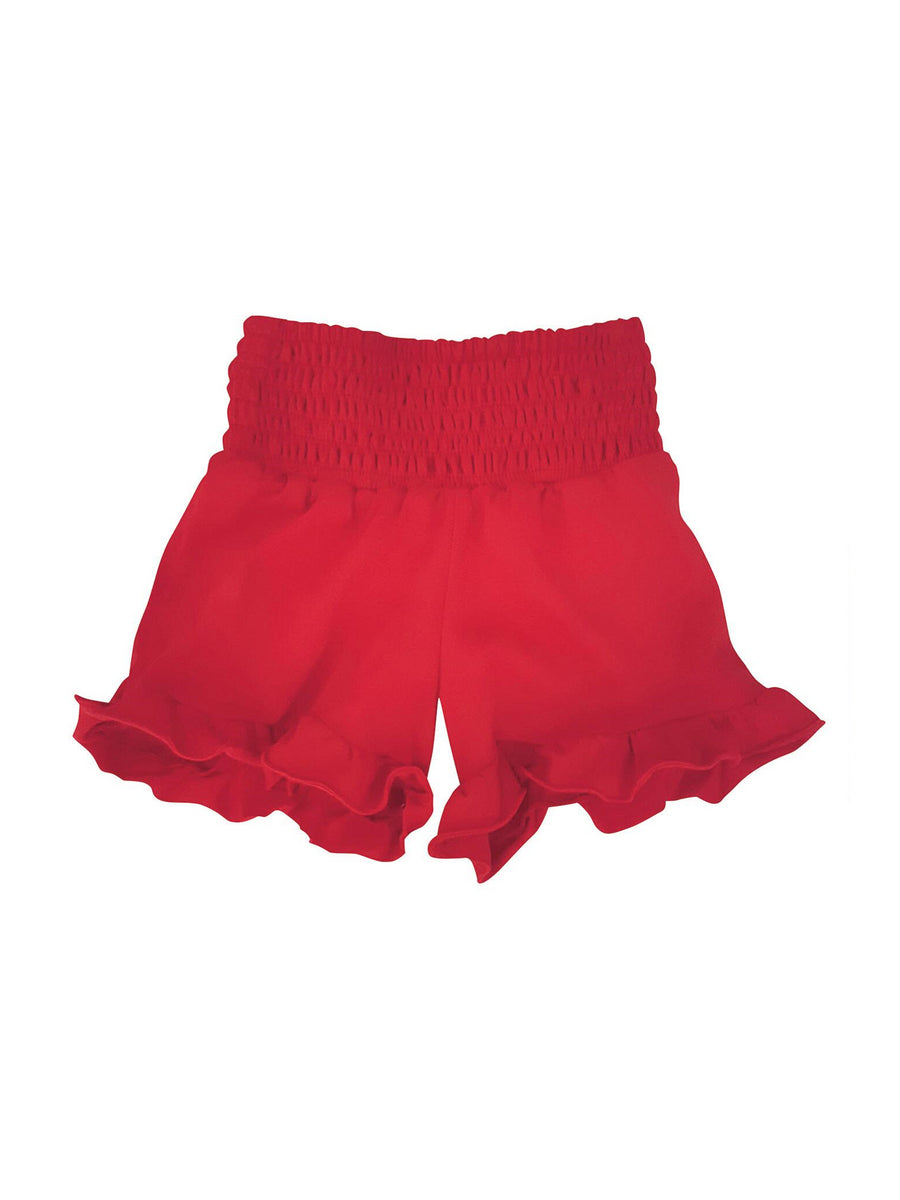 Girls Ruffle-Hem Shorts