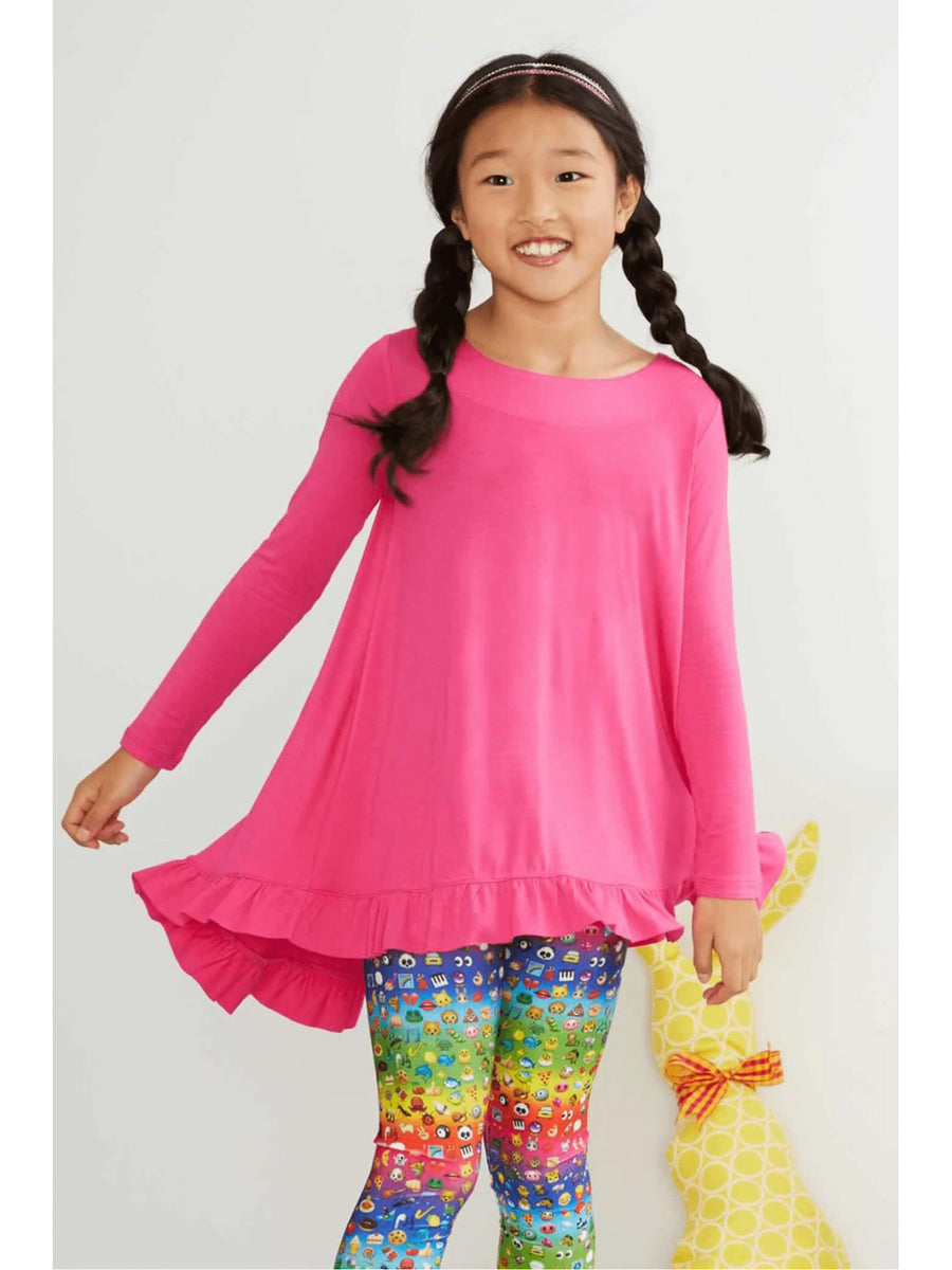 Girls Ruffle Hem Swing Tunic