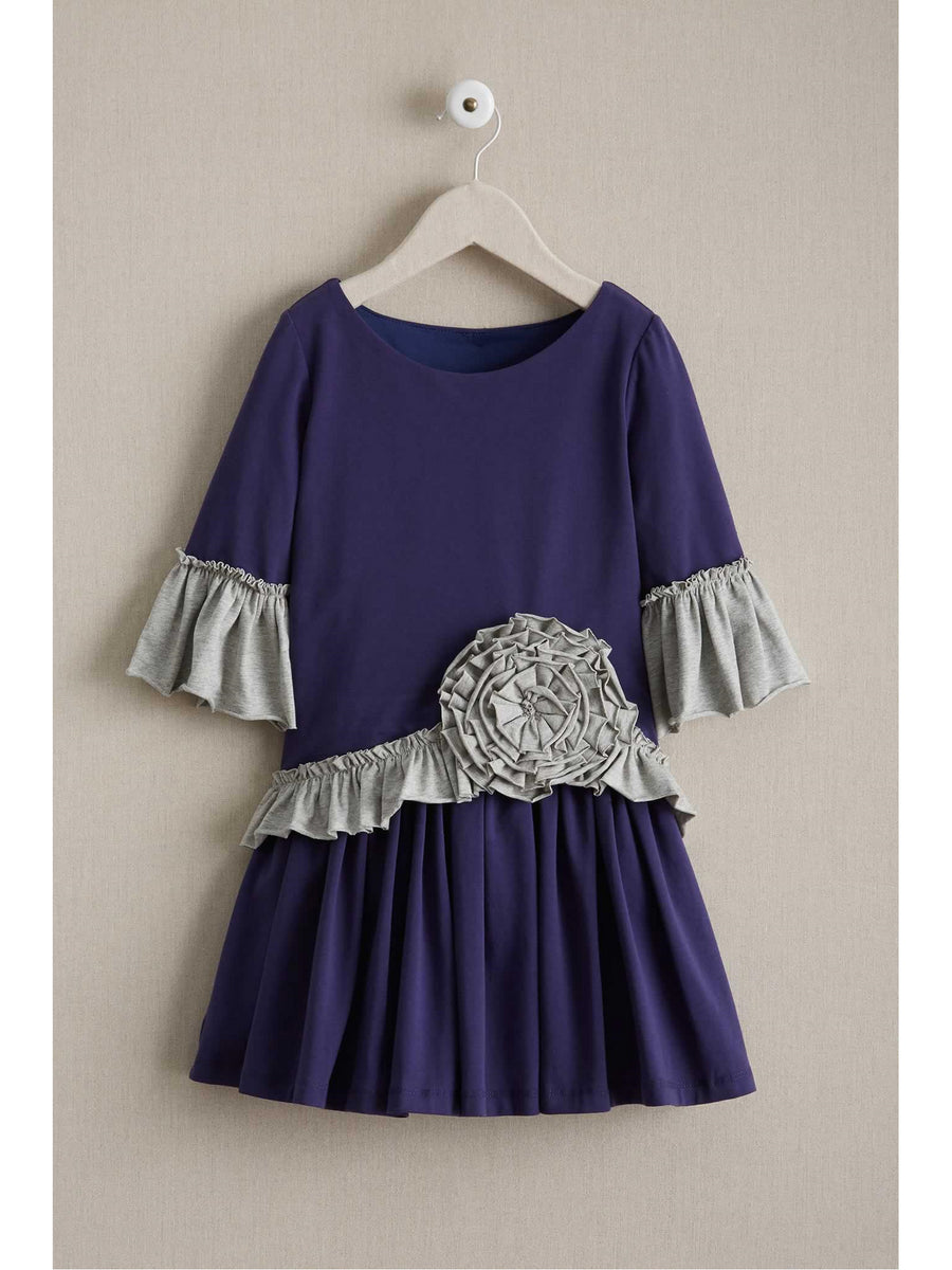 Girls Ruffle Rose Dress