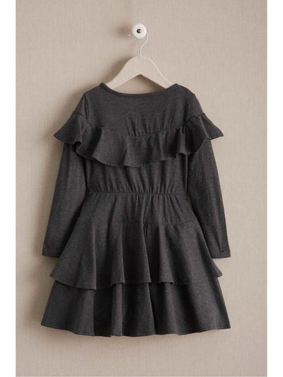 Girls Ruffle Yoke Dress  cha alt2
