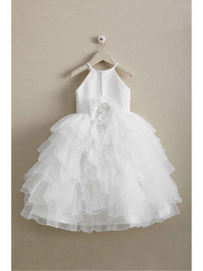 Girls Ruffled Confection Dress  whi alt1