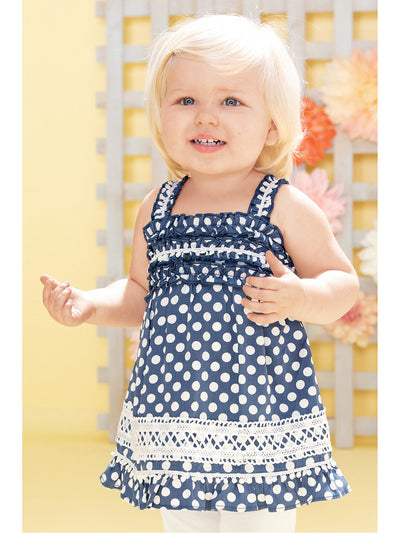 Girls Ruffled Polka Dot Tunic  bldt alt1