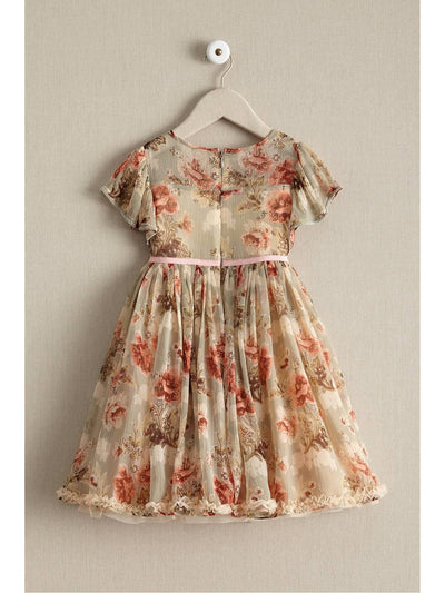Girls Sage Floral Dress  sag alt2
