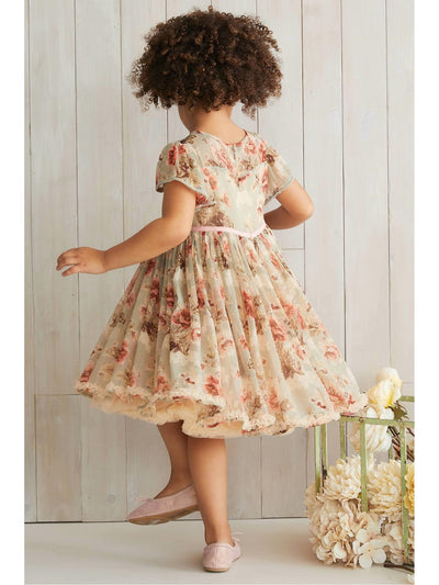 Girls Sage Floral Dress  sag alt3