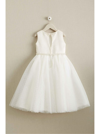 Girls Satin & Lattice Tulle Dress  ivo alt2
