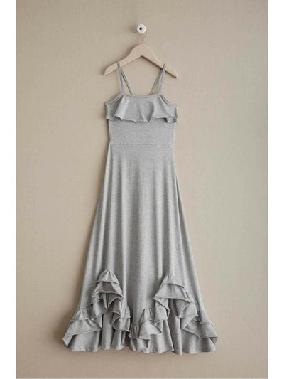 Girls Scallop Ruffle Maxi Dress  hgr alt2