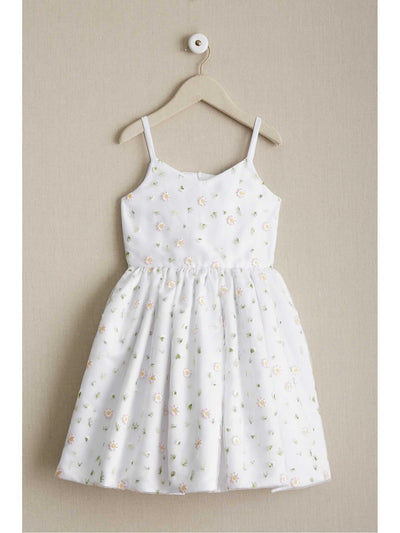 Girls Scattered Flowers Dress