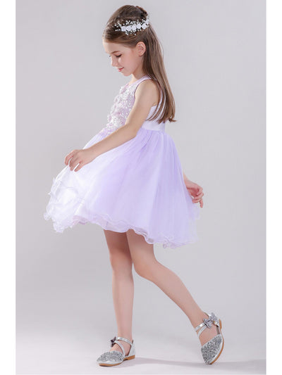 Girls Sequin Floral Dress  pur alt3