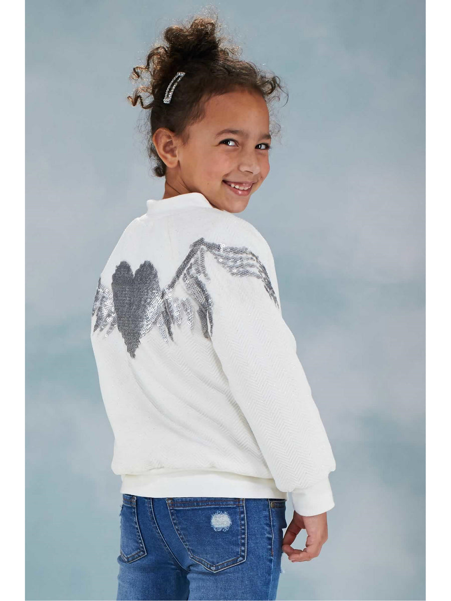 Girls Sequin Heart Jacket