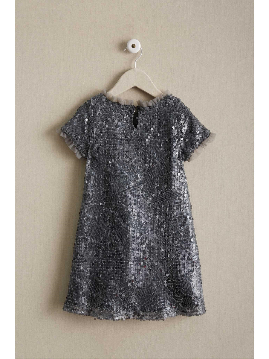 Girls Sequin Shift Dress