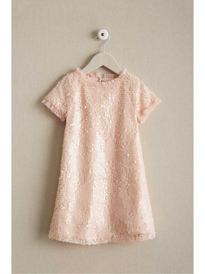 Girls Sequin Shift Dress  gol 1