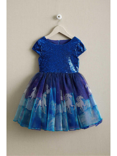 Girls Sequin Unicorn Dress