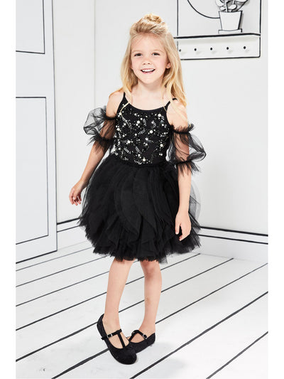Girls Sequins & Beads Tulle Dress