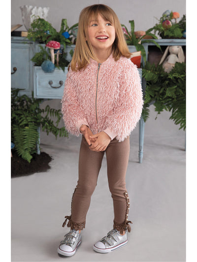 Girls Shaggy Zip Jacket